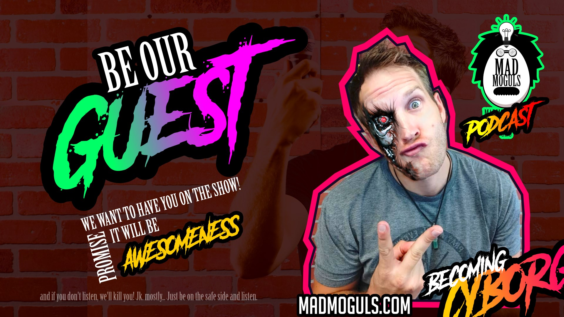 Be Our Guest - Mad Moguls Facebook Advertisement